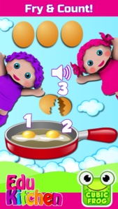 EduKitchen Preschool Learning Game Screenshot Crack the Eggs